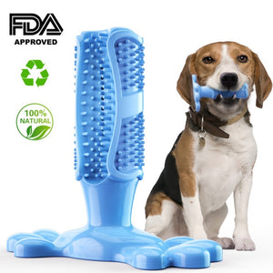 Dog Toothbrush Stick Pets Brushing Stick Dog Teeth Cleaning Chew Toy Teddy Teeth Silicone Perfect Care Products Cleaning Mouth - Petgo Wholesale