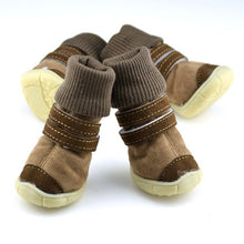 Load image into Gallery viewer, Thick Fur Pet Shoes Small Dogs Shoes Winter Warm Snow Boots For Teddy Poodle Coffee/Pink/Purple - Petgo Wholesale