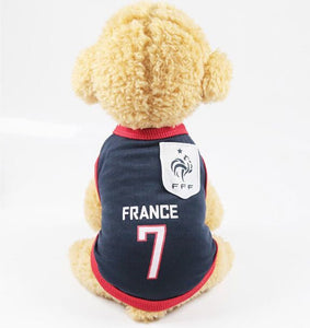 Summer Cool Cat Clothes Football Jersey Cotton Sport Pet Tshirt Clothing For Cats Kitty Vest Costume Xs-xxl - Petgo Wholesale