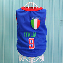 Load image into Gallery viewer, Summer Cool Cat Clothes Football Jersey Cotton Sport Pet Tshirt Clothing For Cats Kitty Vest Costume Xs-xxl - Petgo Wholesale