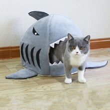 Load image into Gallery viewer, Shark Pet Bed Warm Pet Products Soft Cartoon House For Cat Washable Puppy Bed Winter Dog Cushion - Petgo Wholesale