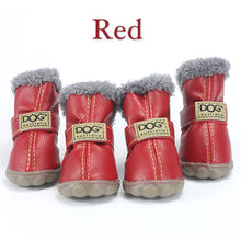 Load image into Gallery viewer, Winter Pet Dog Shoes Warm Snow Boots Waterproof Fur 4Pcs/Set Small Dogs Cotton Non Slip XS For ChiHuaHua Pug Pet Product PETASIA - Petgo Wholesale