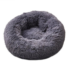 Load image into Gallery viewer, Long Plush Super Soft Pet Bed Kennel Dog Round Cat Winter Warm Sleeping Bag Puppy Cushion Mat Portable Cat Supplies - Petgo Wholesale