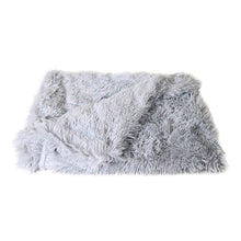 Load image into Gallery viewer, Fluffy Long Plush Pet Blankets Dog Cat Bed Mats Deep Sleeping Soft Thin Covers for Summer Winter Bed Use Blankets Cat Mattress - Petgo Wholesale