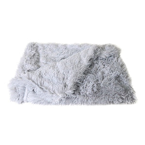 Fluffy Long Plush Pet Blankets Dog Cat Bed Mats Deep Sleeping Soft Thin Covers for Summer Winter Bed Use Blankets Cat Mattress - Petgo Wholesale