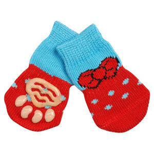 Creative Cat Coats 2018 NEW Pet Cat Socks Dog Socks Traction Control For Indoor Wear L/M/S Cat Clothing Multicolor S M L - Petgo Wholesale