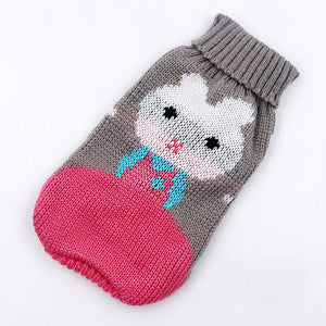 Pet Cat Sweater Cat Clothes For Small Dog Clothes Christmas Dog Sweater Cats Coat Halloween Warm Pet Jacket Knitting Costume 35 - Petgo Wholesale