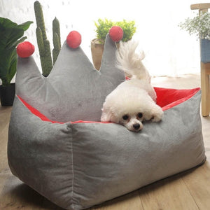 Removable pet bed comfortable dog sofa cat litter easy to clean dog house kennel princess pet sleeping pad puppy Teddy basket - Petgo Wholesale