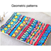 Load image into Gallery viewer, Winter Warm Large Soft Print Flannel Cotton Mattress Dog Cat Pet Mat Bed Pad Self Heating Rug Thermal Washable Pillow - Petgo Wholesale