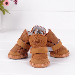 2Color Small Dog Cat Pet Shoes Chihuahua Puppy Winter Warm Boots Shoes S-XXL SZ - Petgo Wholesale
