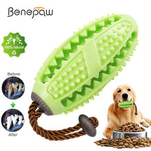 Load image into Gallery viewer, Benepaw Interactive Dog Toys Toothbrush IQ Treat Dispensing Ball Rope Safe Teeth Cleaning Pet Chew Toy Puppy Play Game Training