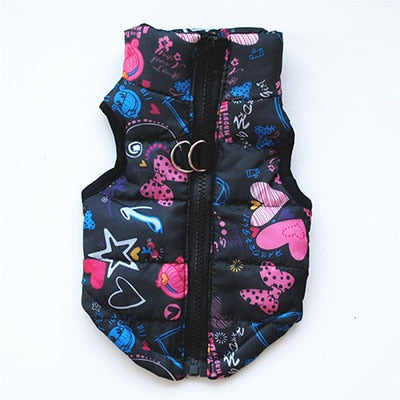 Pet Dog Cat Jacket Coat Kitten Cat Vest Winter Cotton-Padded Jacket Fashion Puppy Coat Clothes for Siamese Bulldog Pup Costume - Petgo Wholesale
