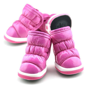 Waterproof Pet Dogs Shoes Trendy Winter Ruffle Soft PU Leather Pet Booties Snow Boots FOOTWEAR FOR THE DOG - Petgo Wholesale