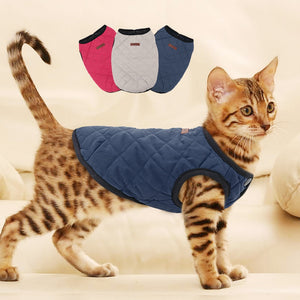Cat Dog Clothes Chihuahua Kitten Clothes Outfit Dog Jacket Vest Winter Clothes Pet Puppy Coat Clothing for Small Medium Cat Dogs - Petgo Wholesale
