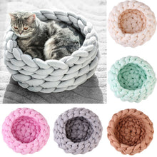 Load image into Gallery viewer, Knitting Cotton Large Pet Dogs Cats Bed Soft Warm Kennel Mat Puppy Cushion House - Petgo Wholesale