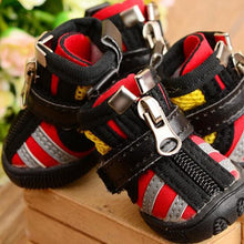 Load image into Gallery viewer, New 4pcs/set Pet Dog Shoes Winter Super Warm Waterproof Dog Boots Zipper Anti-Slip Puppy Shoes Snow Boot Chihuahua XS-XL - Petgo Wholesale