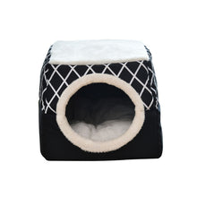 Load image into Gallery viewer, Winter Cat Bed House Kennel Nest Pet Nest Litter Closed Warm Dog Kennel Sofa House Cushion Cat Pet Products Christmas Gifts - Petgo Wholesale