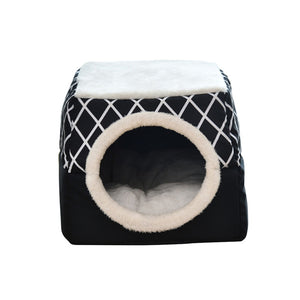 Winter Cat Bed House Kennel Nest Pet Nest Litter Closed Warm Dog Kennel Sofa House Cushion Cat Pet Products Christmas Gifts - Petgo Wholesale