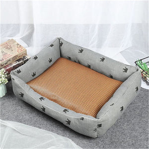 Dog Beds Mats Comfort Print Crown Puppy Pet Mat Bed Warm Cotton Cat Beds For Chihuahua Dog Beds For Dogs 2019 - Petgo Wholesale