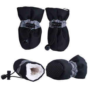 2019 winter Warm Soft Cashmere Anti-skid Rain Shoes For Dog Pet Supplies Rain Snow Boots Footwear - Petgo Wholesale
