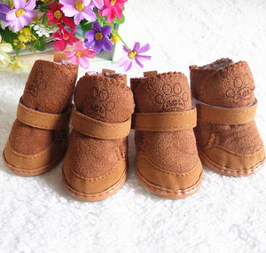 Gou xie Factory Direct Wholesale gou xie Snow Boots Pet Dog Chihuahua Cashmere Dog Padded Pet Shoes - Petgo Wholesale
