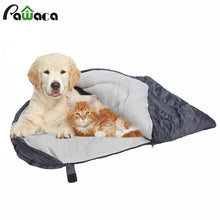 Load image into Gallery viewer, Dog Sleeping Bag Soft Fleece Winter Warm Pet Sleeping beds Polar Fleece Material Puppy Sofa Cushion Cat House Kennel Waterproof - Petgo Wholesale