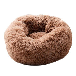 Round Dog Bed Washable Long Plush Dog Kennel Cat House Super Soft Cotton Mats Sofa For Dog Basket Pet Warm Sleeping Bed 6 Colors - Petgo Wholesale