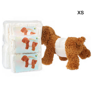 12pcs Pet Dog Disposable Diapers Super Absorbent Diapers Male Dog Sanitary Pants Pet Diaper Super Absorbent Dog Pee Pads - Petgo Wholesale