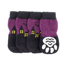 Load image into Gallery viewer, Halloween Pet Waterproof Pumpkin Socks Anti-slip Sole Paw Protectors, Small Medium Dog Dirty-proof Feet Cover - Petgo Wholesale