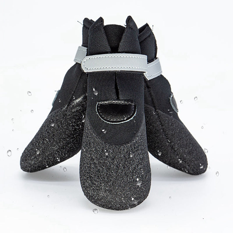 Winter Warm Pet Dog Cat Reflective Shoes Outdoor Rain Boots for Small Pet Paw Protector Anti-Slip Pet Socks Waterproof Supplies - Petgo Wholesale