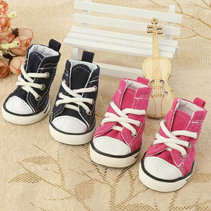 Pet Denim Canvas Dog Shoes Cat Breathable Casual Shoes Teddy Non-slip Wear Boots For Small Puppy Chihuahua XS S M L XL - Petgo Wholesale