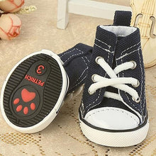 Load image into Gallery viewer, Pet Denim Canvas Dog Shoes Cat Breathable Casual Shoes Teddy Non-slip Wear Boots For Small Puppy Chihuahua XS S M L XL - Petgo Wholesale