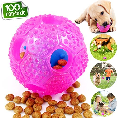 New Interactive Toys Dog Chew Toys Ball IQ Treat Boredom Food Dispensing Cleans Teeth Dog Balls Wolf  Small Medium Dog Supplies