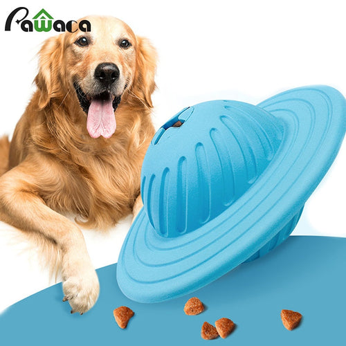 Wisedom Dog Treat Ball IQ Outdoor Interactive Food Dispensing Puzzle Toys for Medium Large Dogs Chasing Chewing Playing Pet Toy