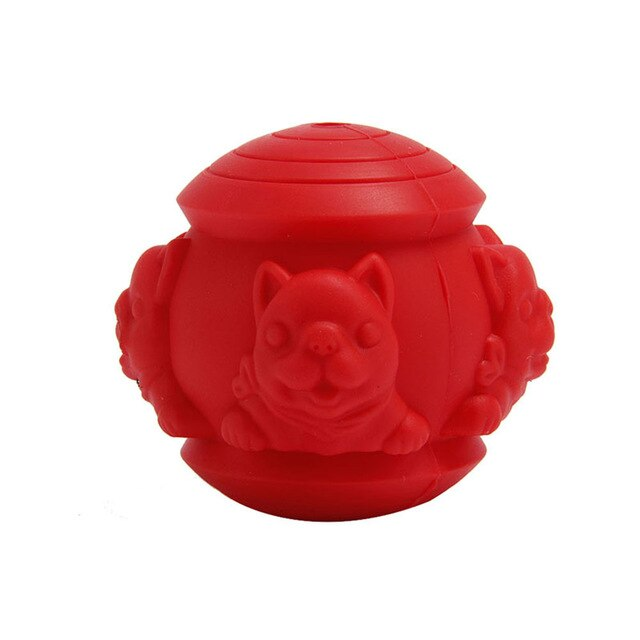 Dog Food Dispensing Ball Interactive IQ Treat Chew Ball Silicone Bouncy Balls Teeth Cleaning Hot Sale