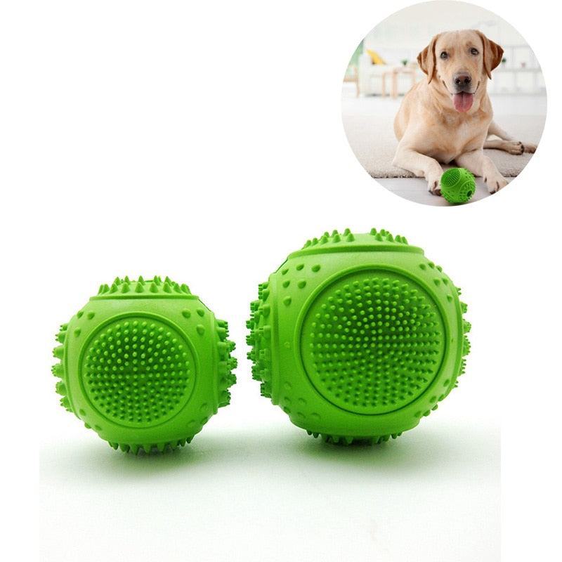 Pet Dog Ball Interactive Rubber Ball Toy Teeth Cleaning Supplies Interactive Dog Rolling IQ Training Playing Toy