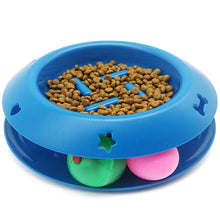 Load image into Gallery viewer, Slow Feeder Pet Bowl Fun Interactive Scratcher Cat Dog Bowl Tower Of Track IQ Treat Ball Toy Stop Bloat Slow Food Bowl Feed Bowl