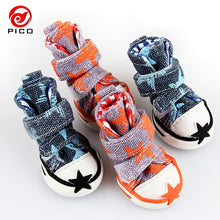 Load image into Gallery viewer, Hot sale pet dog shoes cute stars puppy boot outdoor Casual canvas Sneakers Teddy small dogs shoes ZL248 - Petgo Wholesale