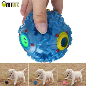 Non-toxic Plastic Dog Toy Squeak Ball Safe Colorful Squeaky Balls Pet Toys For Dogs Train Dog IQ Food Dispenser Puppy Chew Toys