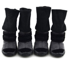Load image into Gallery viewer, Pet Winter Winter Animal Shoes Anti-Slip Leather Soft Cashmere Waterproof Warm Boots Chill Trend - Petgo Wholesale