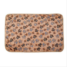 Load image into Gallery viewer, New Cute Dog Bed Mats Soft Flannel Fleece Paw Foot Print Warm Pet Blanket Sleeping Beds Cover Mat For Small Medium Dogs Cats - Petgo Wholesale
