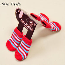 Load image into Gallery viewer, Fashion 4Pcs Cute Puppy Dogs Pet Knits Socks Anti Slip Skid Bottom Ropa Para Mascotas #QP - Petgo Wholesale