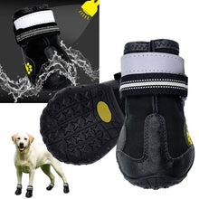 Load image into Gallery viewer, Reflective Dog Shoes Socks Winter Dog Boots Footwear Rain Wear Non-Slip Anti Skid Pet Shoes for Medium Large Dogs Pitbull - Petgo Wholesale