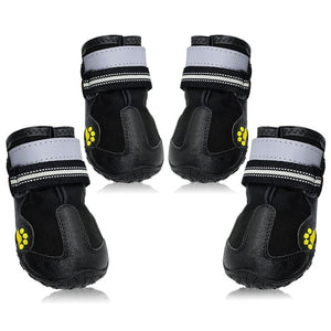 Reflective Dog Shoes Socks Winter Dog Boots Footwear Rain Wear Non-Slip Anti Skid Pet Shoes for Medium Large Dogs Pitbull - Petgo Wholesale