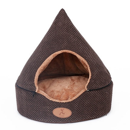 HOOPET Pet Dog Bed Cat Tent Dog House All Seasons Bed for dogs Dirt-resistant Soft Yurt Bed with Double Sided Washable Cushion - Petgo Wholesale