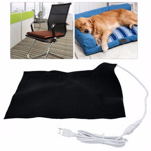 New 5V USB Electric Heating Pad Carbon Fiber Cloth Heater Pad Heating Element for Pet Belt Warmer 50 Celsius Degree Hot - Petgo Wholesale