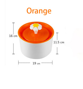 Automatic Cat Dog Pet Water Fountain Pet Bowl Cat Drinking Flower Water Dispenser Petsafe Drink with Filters Pet Water Fountain - Petgo Wholesale