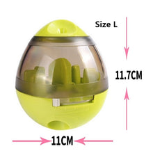Load image into Gallery viewer, Christmas Cat Food Feeders Ball Pet Interactive Toy Smarter Cat Dogs Playing Toys Treat Ball Shaking for Dogs Increases IQ 6c4Q - Petgo Wholesale