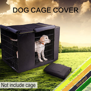 Dog Kennel House Cover Waterproof Dust-proof Durable Oxford Dog Cage Cover Foldable Washable Outdoor Pet Kennel Crate Cover - Petgo Wholesale