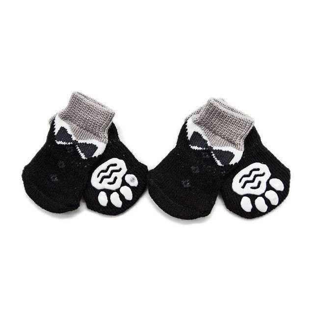 Winter Warm Pet Dog Cat Knitted Shoes Indoor Thick soft bottom Cotton Shoes for Small Dogs Cats Anti-Slip Pet Socks Pet Supplies - Petgo Wholesale